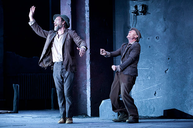 Hugo Weaving and Richard Roxburgh in STC's Waiting for Godot. Photo: Lisa Tomasetti