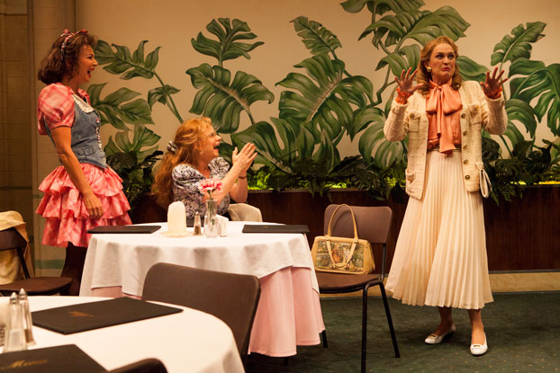 Anita Hegh, Rebecca Massey and Helen Thomson in STC's After Dinner. Photo by Brett Boardman
