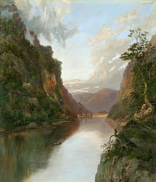 """Hawkesbury River with Figures in Boat : On the Nepean"" by William Charles Piguenit (1881)"