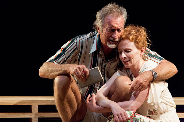 Bryan Brown and Alison Whyte in STC's Travelling North by David Williamson. Photo: Brett Boardman.