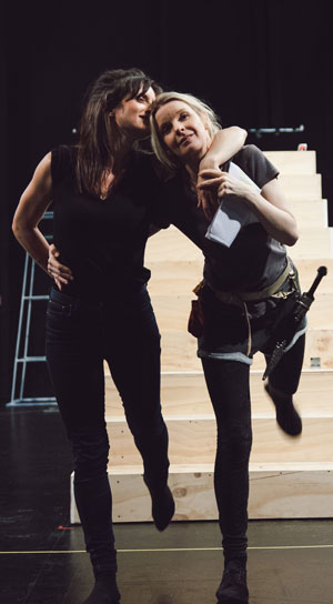 Luisa Hastings Edge and Jacqueline McKenzie in rehearsals. Photo by Hon Boey