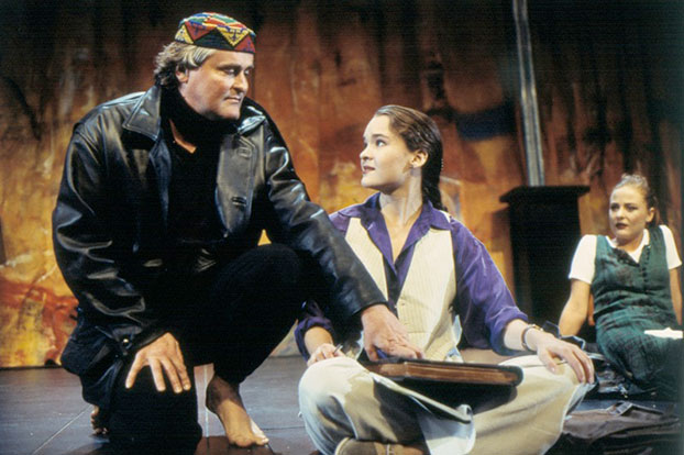 John Howard, Michelle Doake and Kelly Butler in Dead White Males, 1995. Photo: Tracey Schramm ©