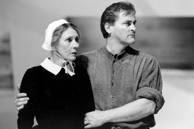 Jennifer Flowers and John Howard in STC's The Crucible – tour, 1993.  Photo:  Robert McFarlane ©