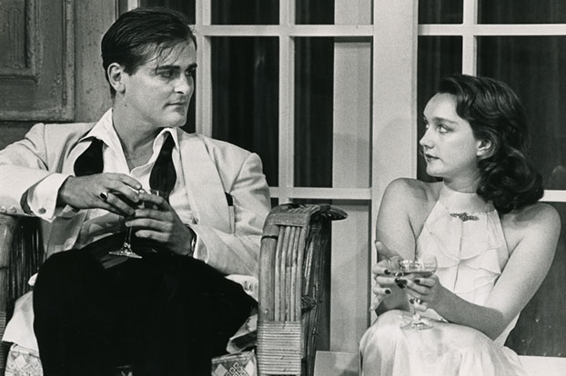 John Howard and Victoria Longley in STC's The Philadelphia Story, 1986.  Photo: Branco Gaica ©