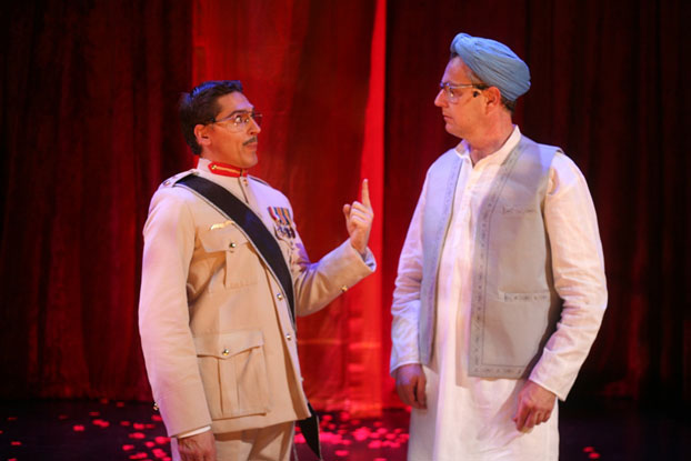Michael Falzon and Jonathan Biggins in STC's Best We Forget (The Wharf Revue), 2006.  Photo: Tracey Schramm ©