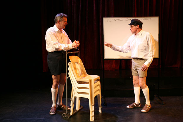 Jonathan Biggins and Drew Forsythe in STC's Best We Forget (The Wharf Revue), 2006.  Photo: Tracey Schramm ©