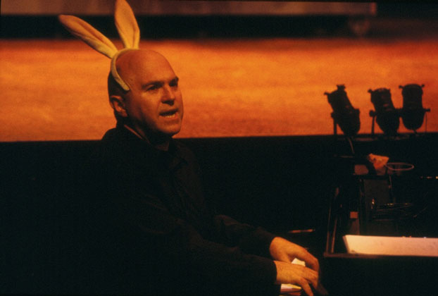 Phillip Scott in STC's Much Revue About Nothing (The Wharf Revue), 2002. Photo: Phil Sheather ©