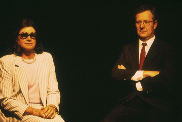 Drew Forsythe and Jonathan Biggins in STC's Much Revue About Nothing (The Wharf Revue), 2002. Photo: Phil Sheather ©