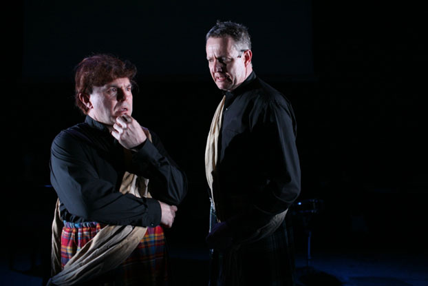 Phillip Scott and Jonathan Biggins in STC's Revue Sans Frontieres (The Wharf Revue), 2006.  Photo: Tracey Schramm ©