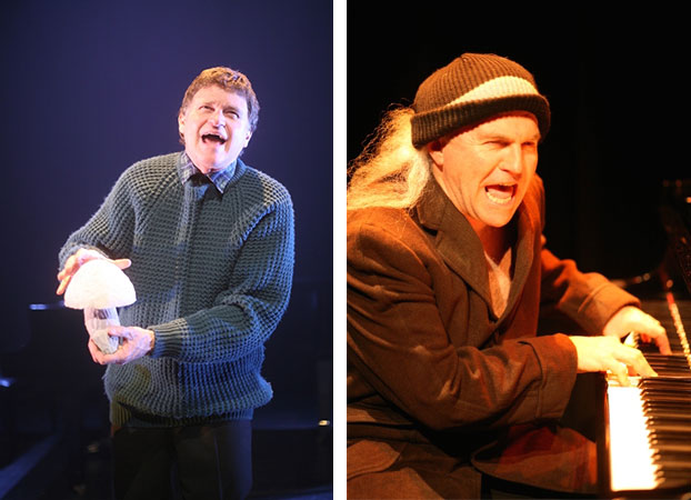 Phillip Scott and Drew Forsythe in STC's Stuff All Happens (The Wharf Revue), 2005.  Photo: Tracey Schramm ©