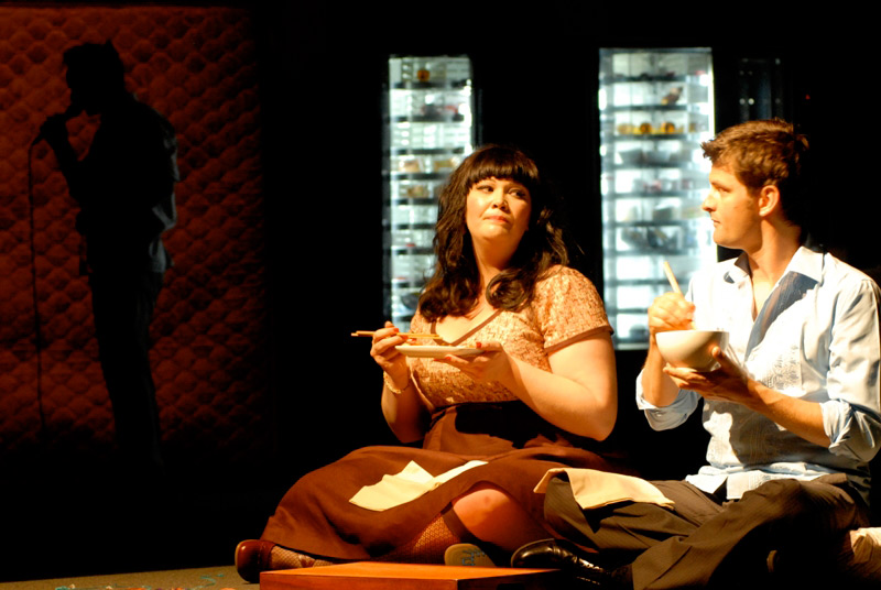 Katrina Milosovic and James Saunders in STC's Fat Pig, 2006.  Photo: Heidrun Lohr ©