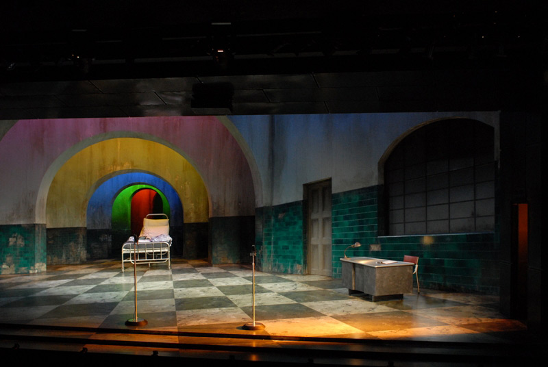 The set of STC's Ying Tong – A Walk with the Goons, 2007.  Photo: Heidrun Lohr ©