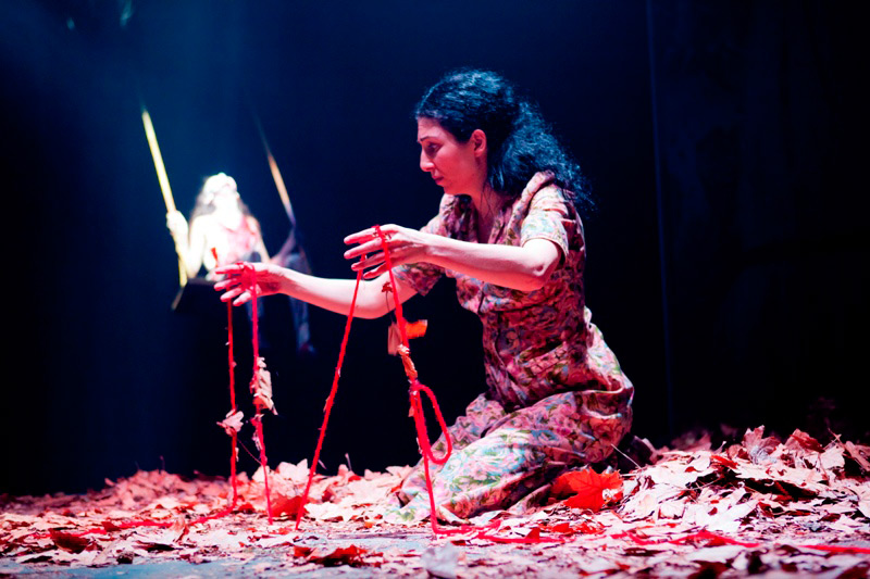 Julia Ohannessian in STC's Blood Wedding, 2011.  Photo: Brett Boardman ©