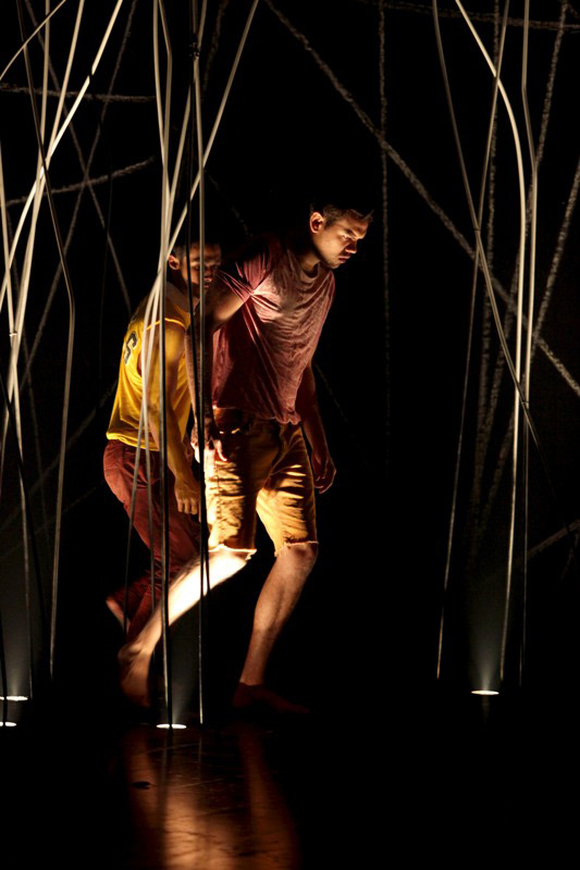 Rhimi Johnson Page and Meyne Wyatt in STC's Bloodland, 2011.  Photo:  Danielle Lyonne ©