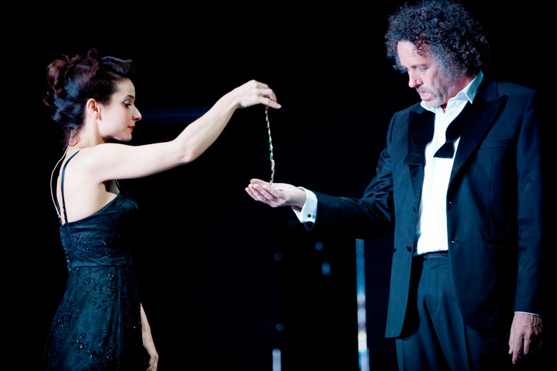 Andrea Demetriades and Marco Chiappi in STC's Pygmalion, 2012.  Photo: Brett Boardman ©