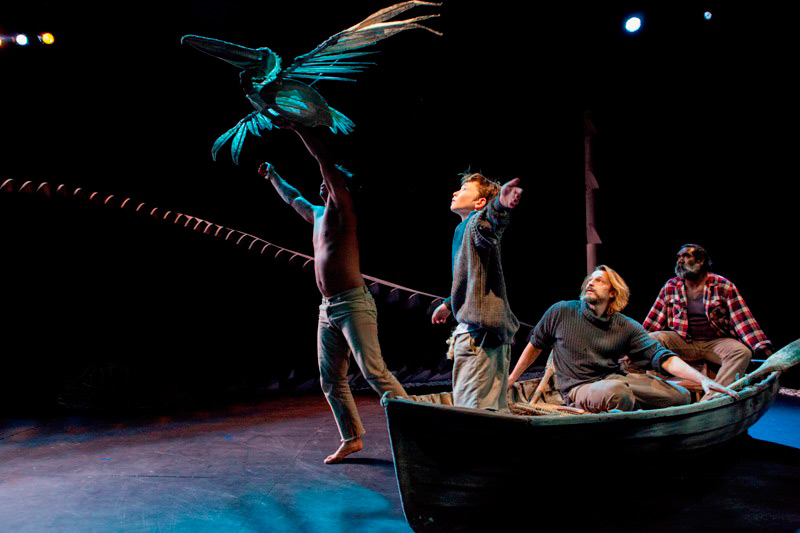 Michael Smith, Rory Potter, Peter O'Brien and Trevor Jamieson in Storm Boy, 2013, co-produced by Sydney Theatre Company and Barking Gecko Theatre Company.  Photo: Brett Boardman ©