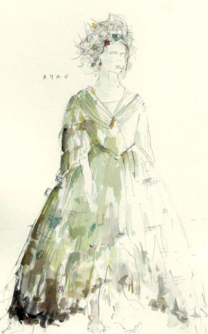 Costume sketch by David Fleischer