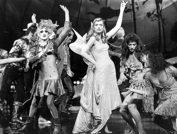 Ritchie Finger, Susan Lyons, Helen Buday and Rebecca Frith in Sydney Theatre Company's A Midsummer Night's Dream, 1989. Photo: Branco Gaica