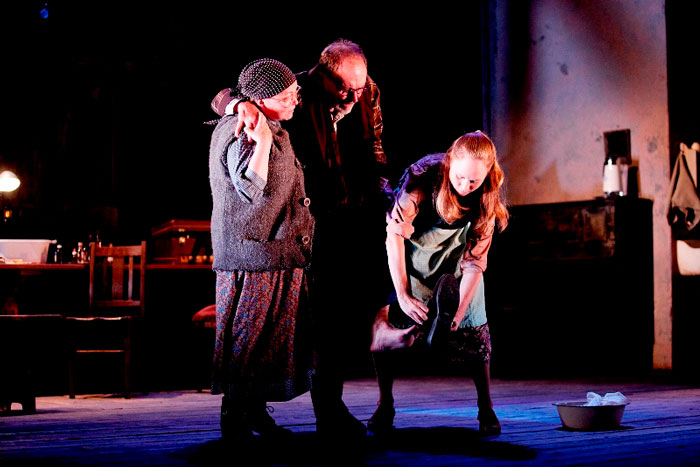 Jacki Weaver, John Bell and Hayley McElhinney in STC's Uncle Vanya, 2010.  Photo: Lisa Tomasetti