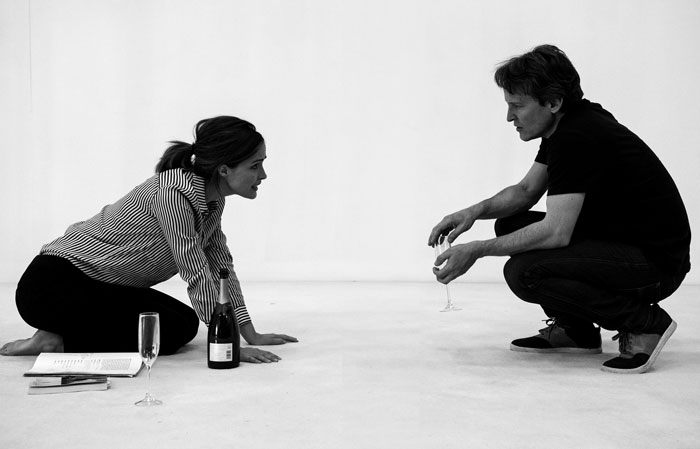 Rose Byrne and Damon Herriman in rehearsals (Photo: Brett Boardman)