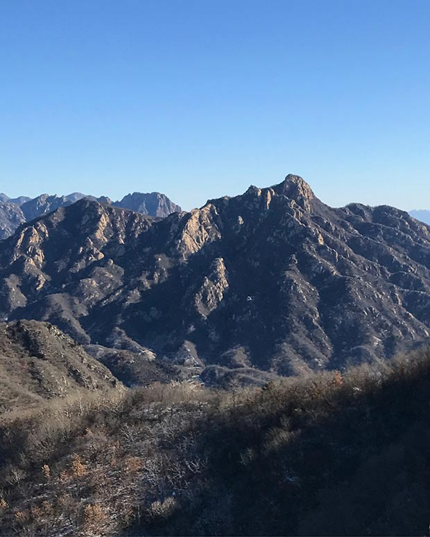 The view from The Great Wall of China