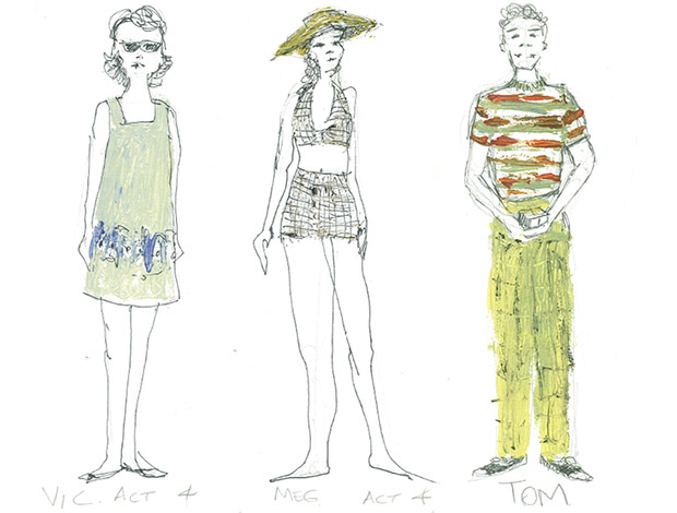 A selection of Away costume designs