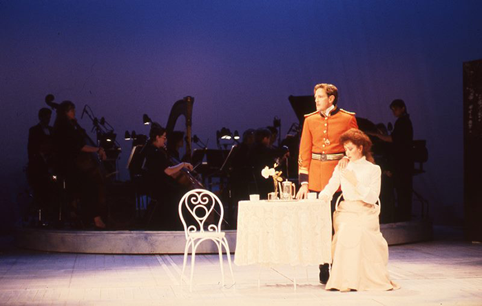 Michael Smith and Diane Smith in STC's A Little Night Music, 1990 (Photo: Hugh Hamilton)