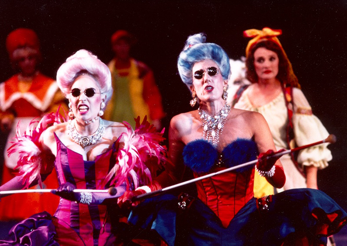 Jacqueline Linke and Jenny Vuletic in STC's Into the Woods, 1993 (Photo: Robert McFarlane)