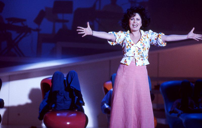 Gina Riley in STC's Falsettos, 1994 (Photo: John Bayley)