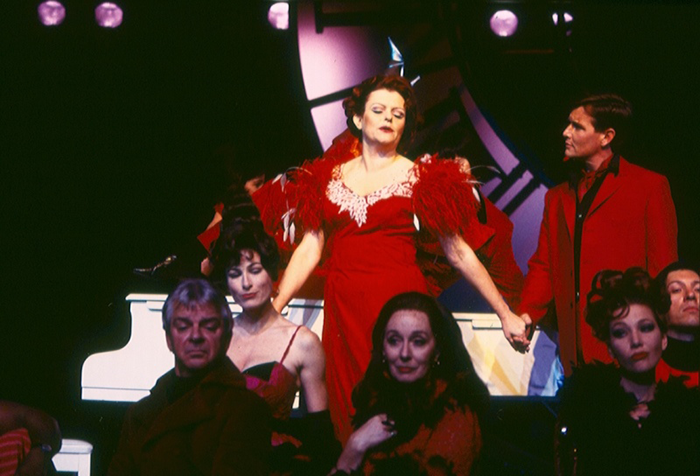Genevieve Lemon and cast of STC's Merrily We Roll Along, 1996 (Photo: Robert McFarlane)
