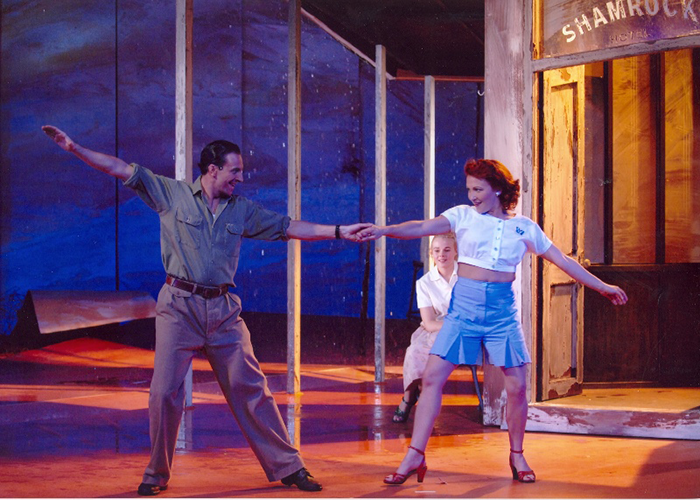Mitchell Butel, Belinda Wollaston and Blazey Best in STC's Summer Rain, 2005 (Photo: James Morgan)