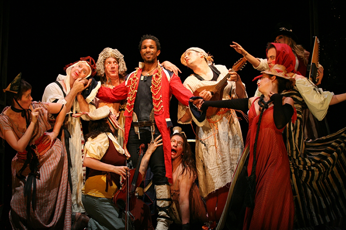 Cast of STC and Out of Joint's The Convict's Opera, 2008 (Photo: Olivia Martin-McGuire)