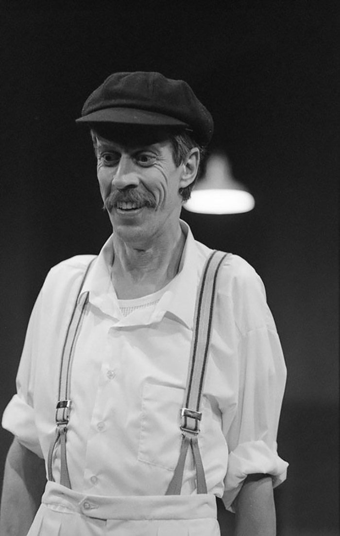 Bruce Spence in STC's The Don's Last Innings, 1986 (Photo:  Hugh Hamilton)