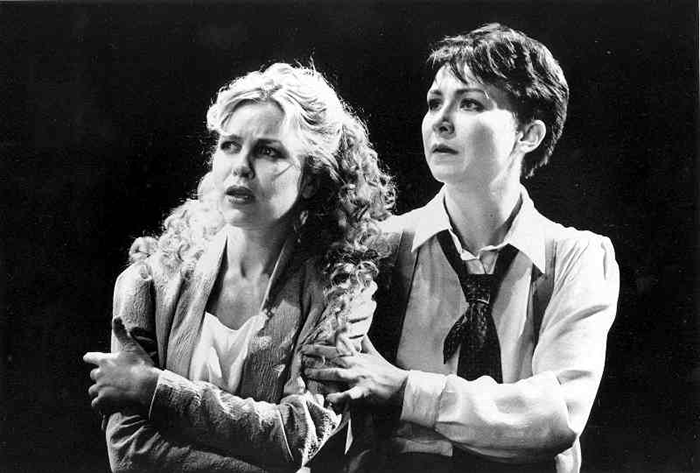 Lucy Bell and Anita Hegh in STC's As You Like It, 1996 (Photo: Philip le Masurier)