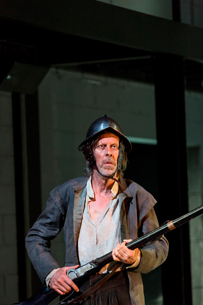 Bruce Spence in STC's Cyrano de Bergerac, 2014 (Photo:  Brett Boardman)