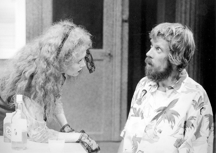 Julie Nihill and Bruce Spence in STC's Family Favourites, 1986 (Photo: Hugh Hamilton)
