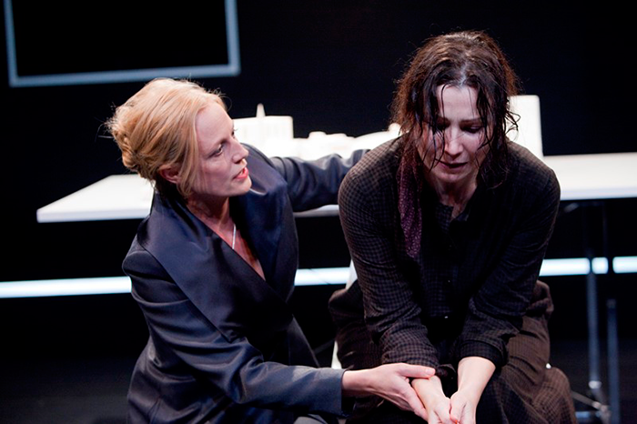 Marta Dusseldorp and Anita Hegh in Like a Fishbone, 2010 (Photo: Brett Boardman)