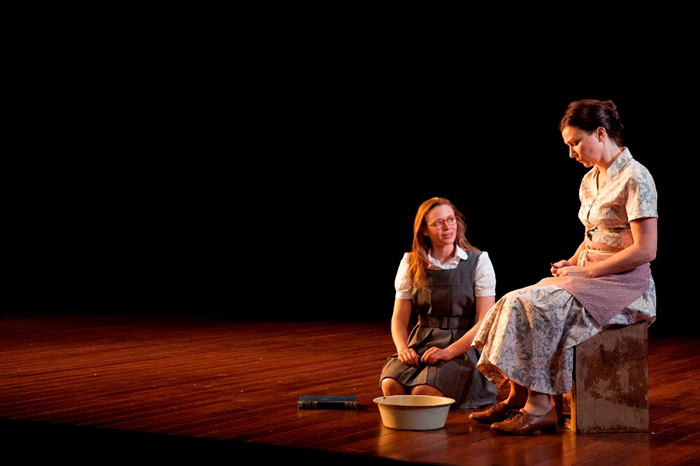 Maeve Dermody and Anita Hegh in Our Town, 2010 (Photo: Brett Boardman)