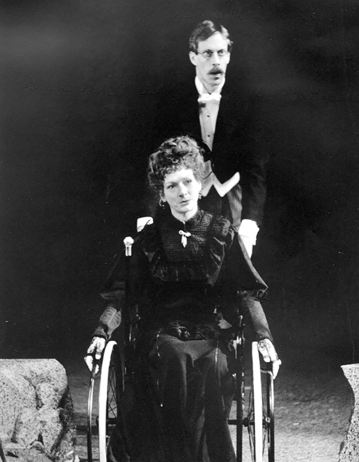 Gillian Jones and Bruce Spence in STC's Suddenly Last Summer, 1986 (Photo: Hugh Hamilton)