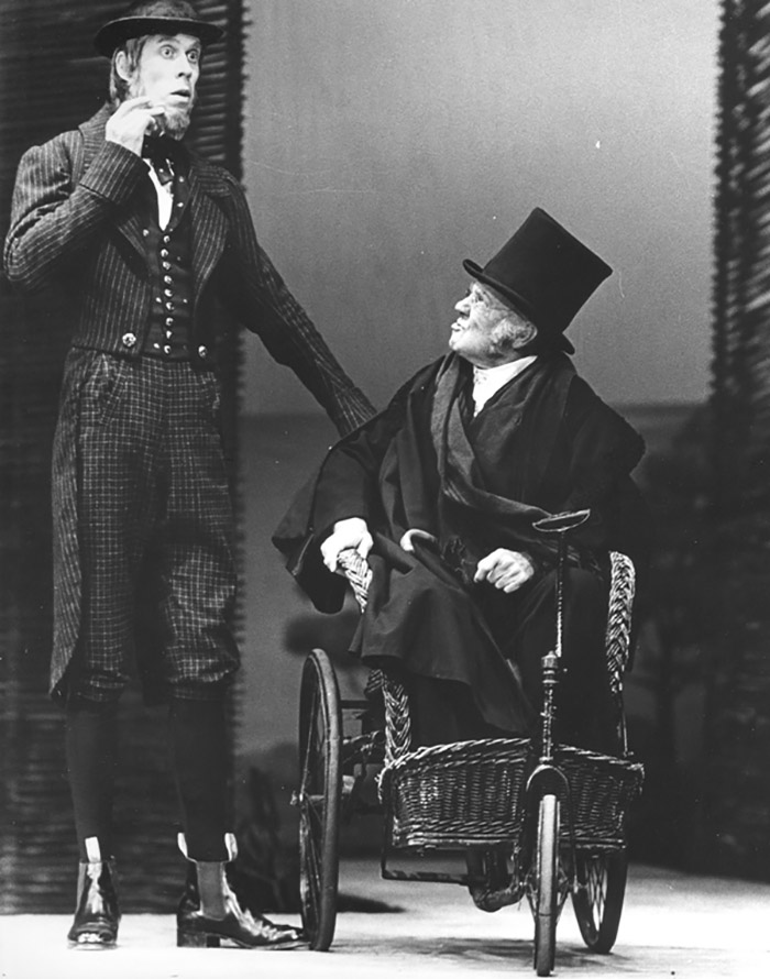 Bruce Spence and Redmond Phillips in STC's The Merry Wives of Windsor, 1980 (Photo:  Brian Geach)