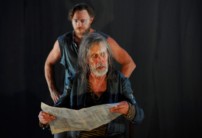 Nathaniel Dean and Bruce Spence in STC's The Secret River, 2013 (Photo:  Heidrun Lohr)