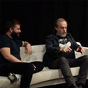 Video: Hugo Weaving and Kip Williams on the couch