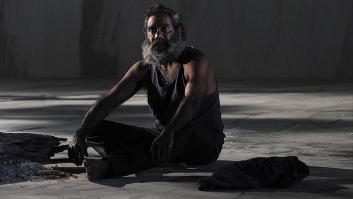 Trevor Jamieson in 'The Secret River'. Heuidrun Löhr for Sydney Theatre Company 2013