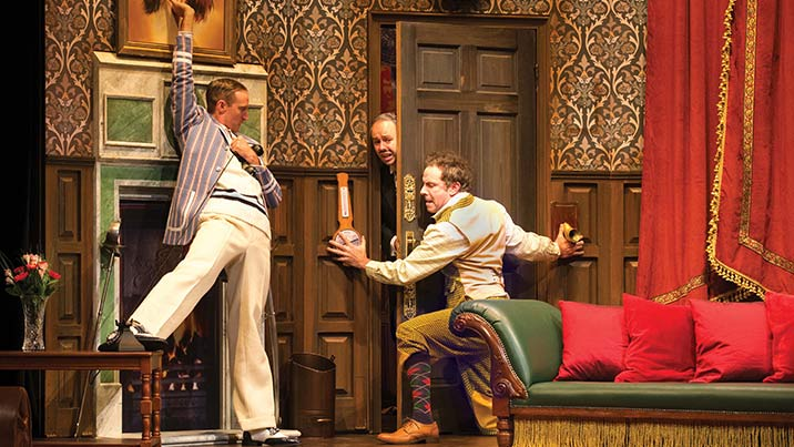 The play that goes wrong roslyn packer theatre walsh bay for What s playing at the terrace theater